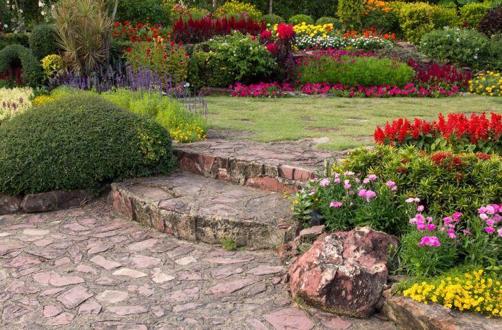 Obrzeża ogrodowe schody